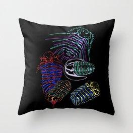 Silurian and Devonian Era Trilobites 2 Throw Pillow