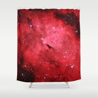 hercules Shower Curtains featuring Emission Nebula by Space99