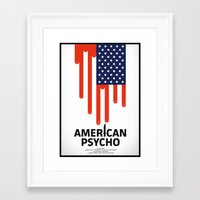 american psycho Framed Art Prints featuring American Psycho by Chris Thornley