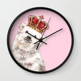 Prince Baby Polar Bear Wall Clock