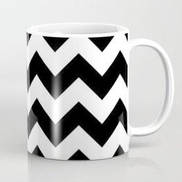 BLACK AND WHITE CHEVRON PATTERN - THICK LINED ZIG ZAG Coffee Mug