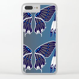 Butterfly Nation Blue Clear iPhone Case
