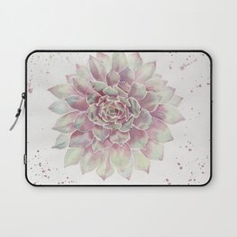 Big Succulent Watercolor Laptop Sleeve