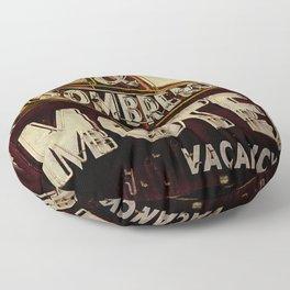 Vintage El Sombrero Motel Sign Floor Pillow