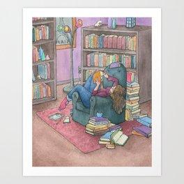 Book Love Art Print