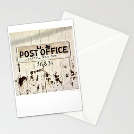 Post Office in Castell, Texas Stationery Cards