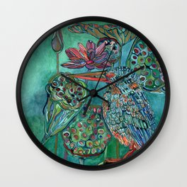 The King and the Lotus Wall Clock