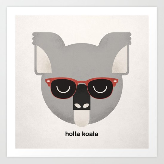 Holla Koala Art Print