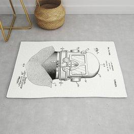 patent art Browne 1945 Diving suit Rug