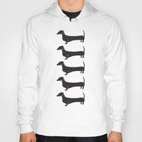 dachshund Hoodies featuring Dachshund by Andrea Raths