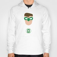 green lantern Hoodies featuring GREEN LANTERN by Roboz