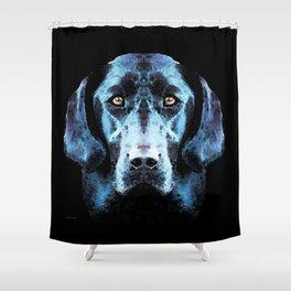 Hunter - Black Lab Art By Sharon Cummings Shower Curtain