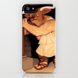 Manny the Minotaur of Crete iPhone Case