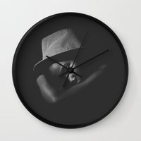 lydia martin Wall Clocks featuring Martin by Felipe Khill