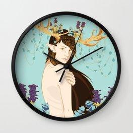 Antlers & Gems Wall Clock
