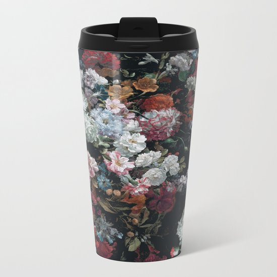 FLOWERS FLOWERS FLOWERS ... JUST FLOWERS (FLORAL) Metal Travel Mug