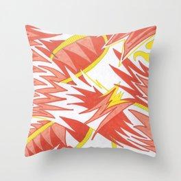 Coral Kiss Throw Pillow