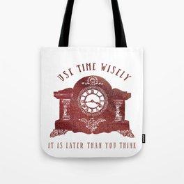 Timewise Vintage Clock Tote Bag