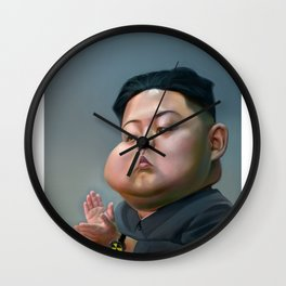 Caricature kim jong un Wall Clock