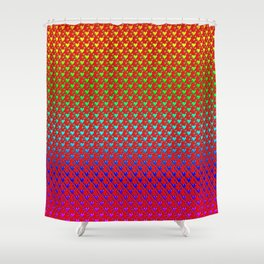 Regenbogenherzen - Rainbow hearts Shower Curtain