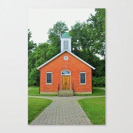 Wildwood Schoolhouse- vertical Canvas Print