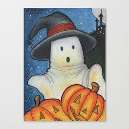 Spooky Pumpkins Canvas Print