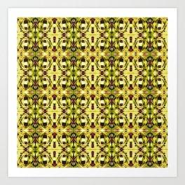 The Golden Pattern Art Print