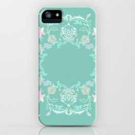pink and pastel medalion iPhone Case
