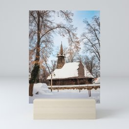 Winter Wonderland at the Village Museum in Bucharest Mini Art Print
