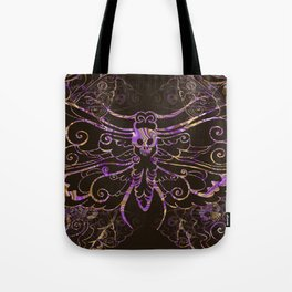Hawkmoth Pattern in purple and brown Tote Bag