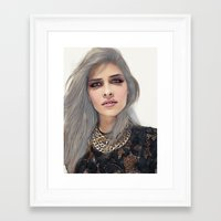 xoxo Framed Art Prints featuring XOXO by Sara Eshak