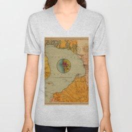 Map of Bay of Manila 1899 Unisex V-Neck