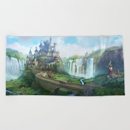 epic fantasy castle  Beach Towel
