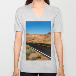 Valley of Fire, Nevada. Unisex V-Neck