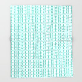 Aqua Dot Throw Blanket