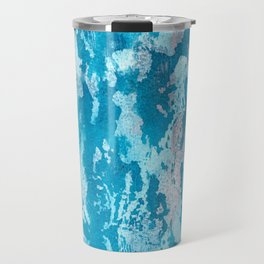 """Lace"" Blue and pink ink textures Travel Mug"