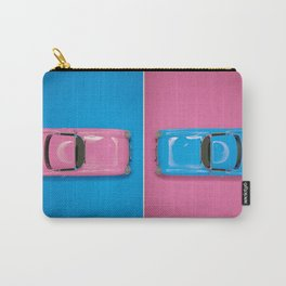 Cars Story - Pink on Blue & Reverse Carry-All Pouch