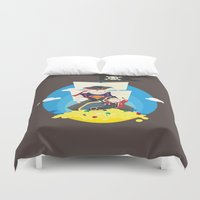 the goonies Duvet Covers featuring Sloth love Chunk! by steeeeee