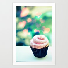 Cupcake Love Case Art Print