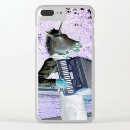 Unicorn Plays The Polka Clear iPhone Case