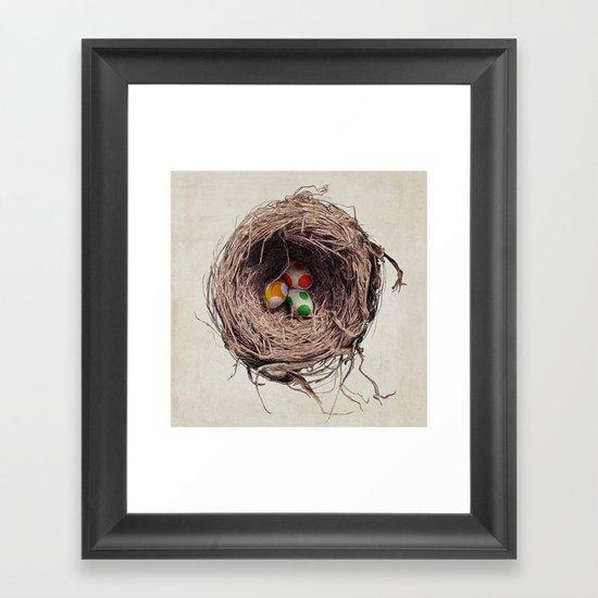 Yoshi Eggs Framed Art Print