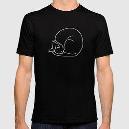 Sleeping Cats #3 - black T-shirt