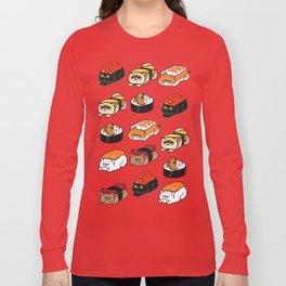 Sushi Persian Cat Long Sleeve T-shirt