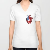 american V-neck T-shirts featuring American  by Nate4D7