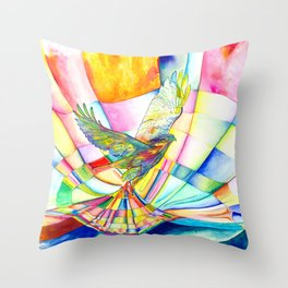 I am Slumber-Catcher, the Hawk Throw Pillow