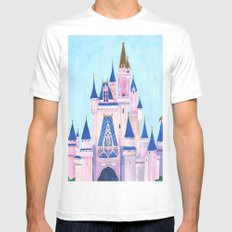 Cinderella's Castle White Mens Fitted Tee MEDIUM