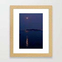Moon Reflection Framed Art Print