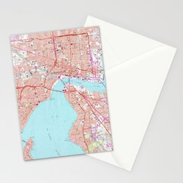 Vintage Map of Jacksonville Florida (1964) Stationery Cards
