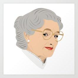 Robin Williams as Mrs Doubtfire Art Print