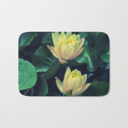 Yellow Lotus Flowers Bath Mat